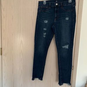 Gap skinny distressed jeans size 30